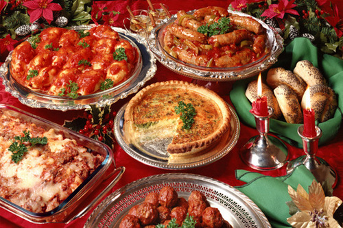 Блюда предлагаемые ресторанами к новому году